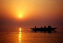 Ganga from varanasi city